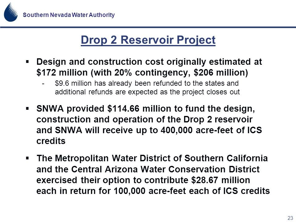 Drop 2 Reservoir Project