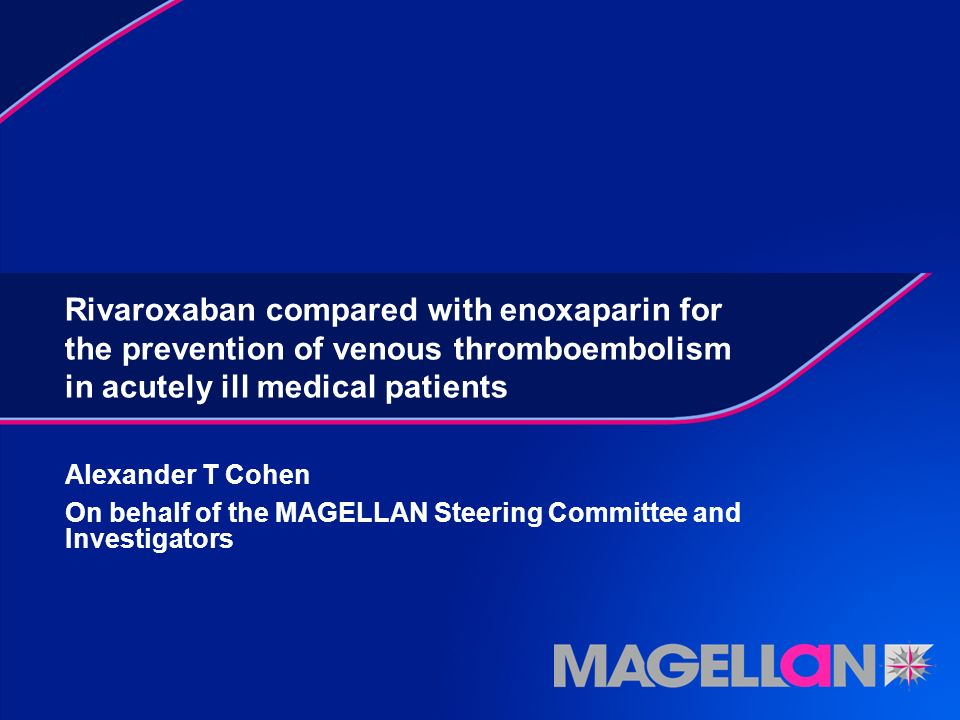 Rivaroxaban compared with enoxaparin for the prevention of venous thromboembolism in acutely ill medical patients
