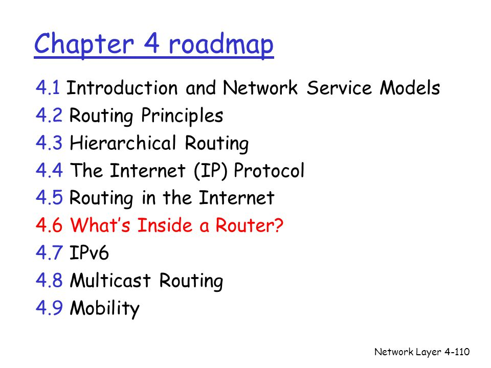 Chapter 4 roadmap 4.1 Introduction and Network Service Models