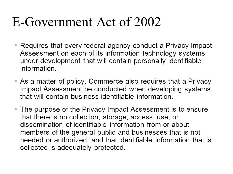 E-Government Act of 2002