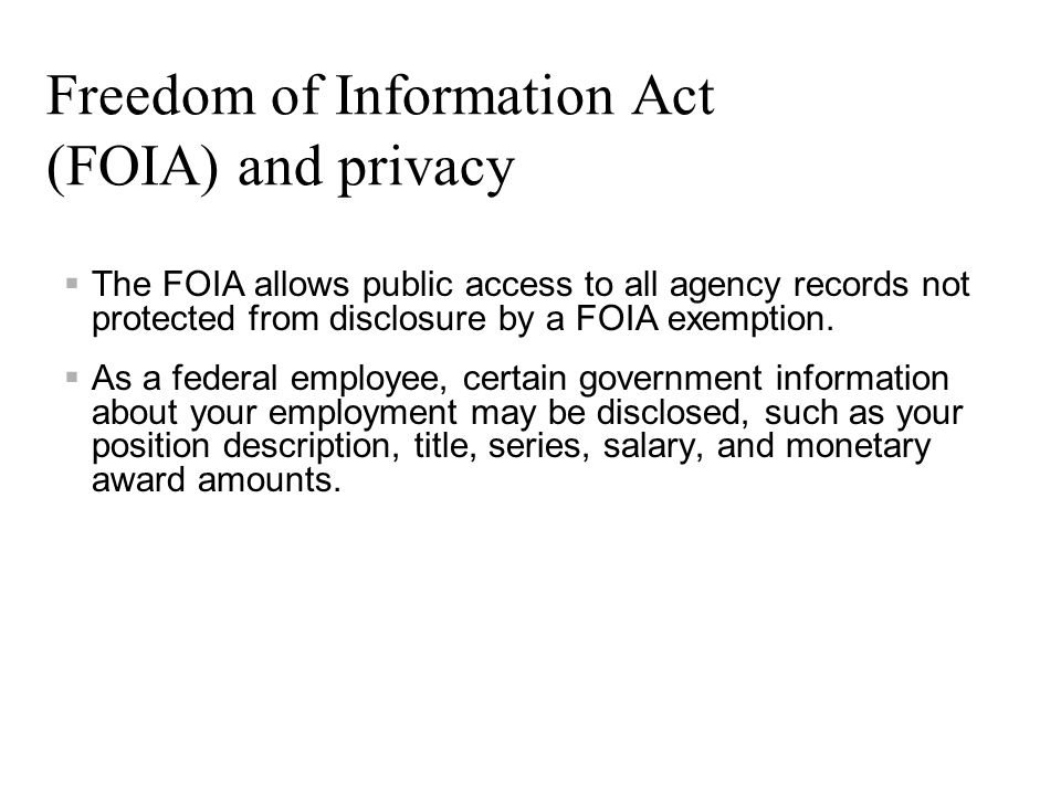 Freedom of Information Act (FOIA) and privacy