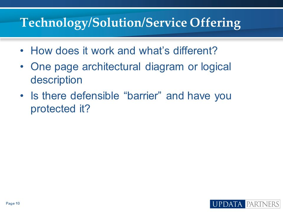 Technology/Solution/Service Offering