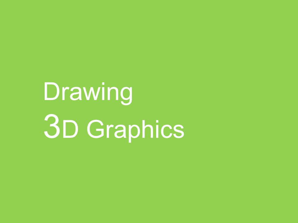 Drawing 3D Graphics