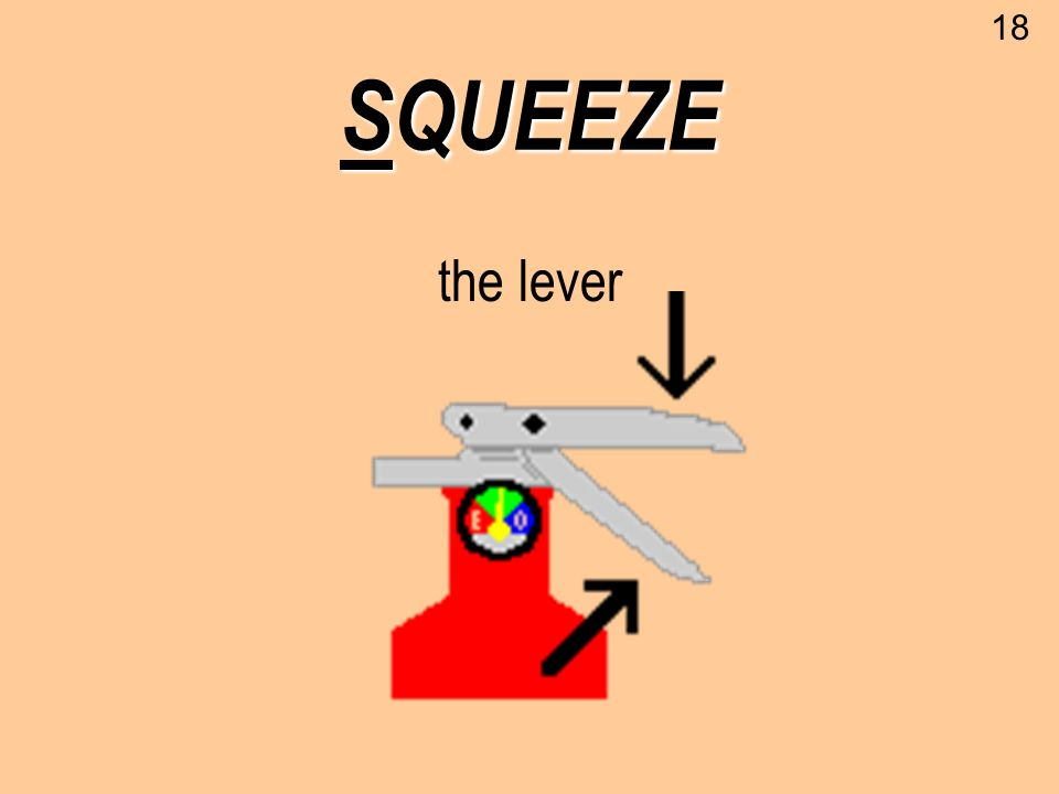 18 SQUEEZE the lever