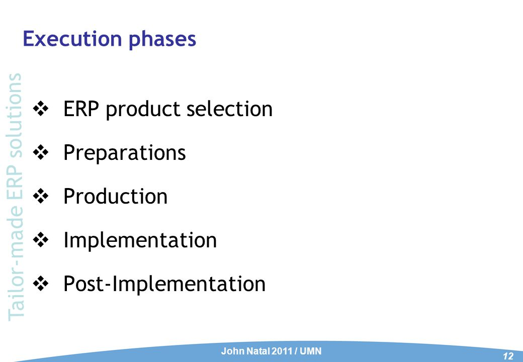 ERP Product selection Phase