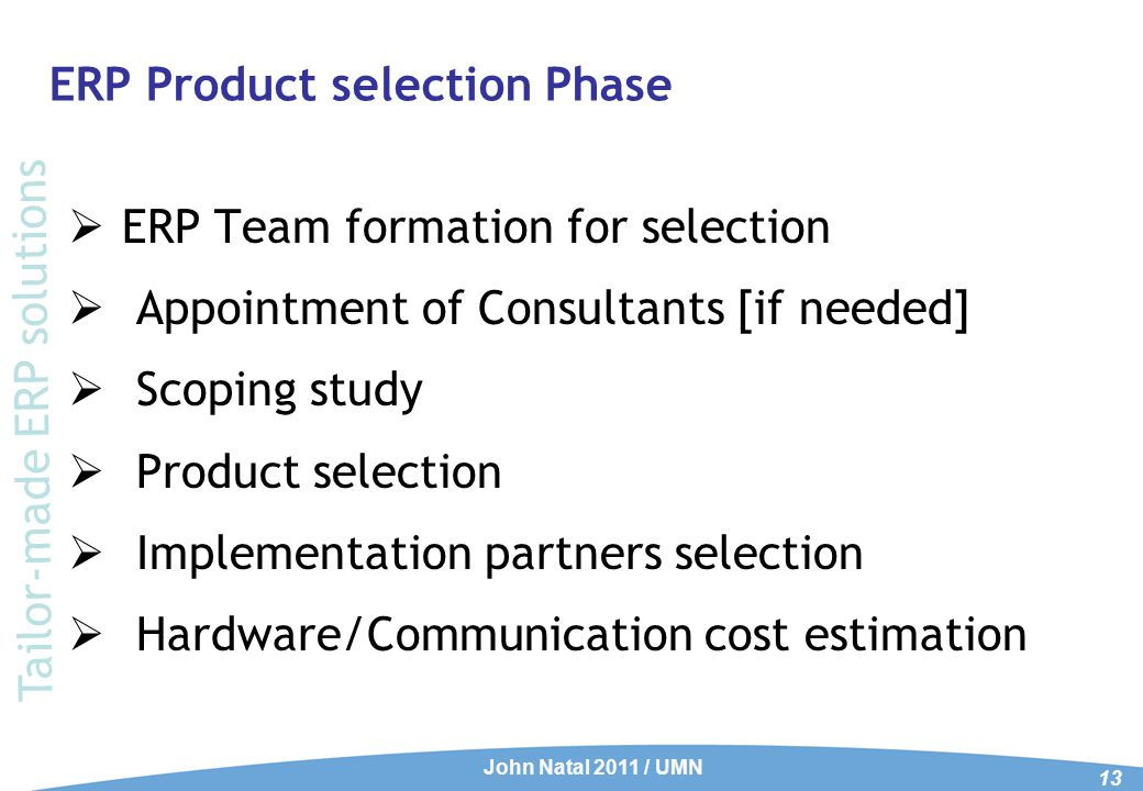 Product Selection - Parameters