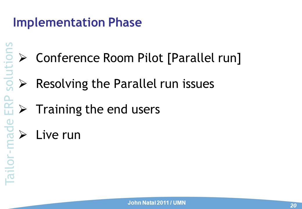 Post-Implementation Phase