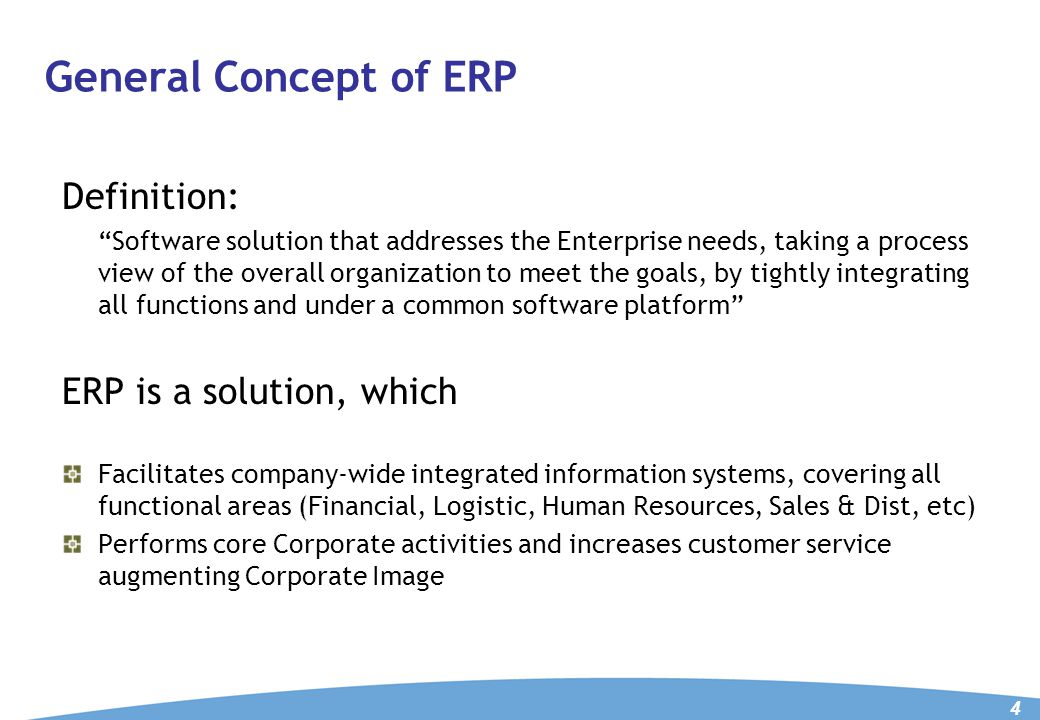 WHY ERP For Management – to know what is happening in the company