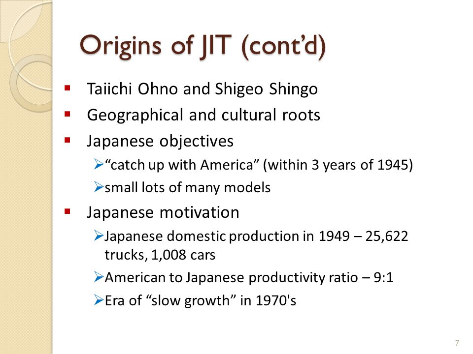 Origins of JIT (cont'd)