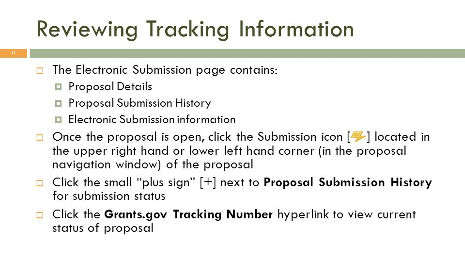 Reviewing Tracking Information