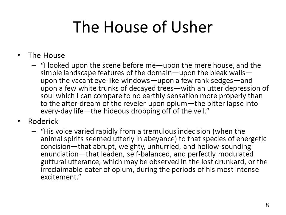 The House of Usher The House Roderick