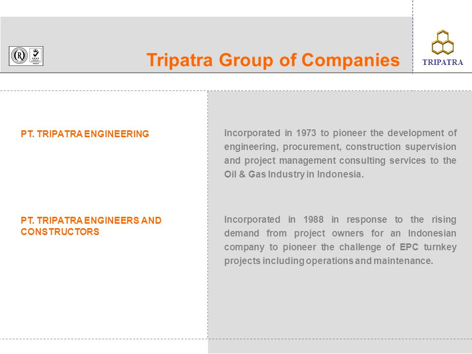 TRIPATRA Company Profile ppt video online download