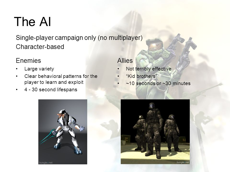 The AI Single-player campaign only (no multiplayer) Character-based