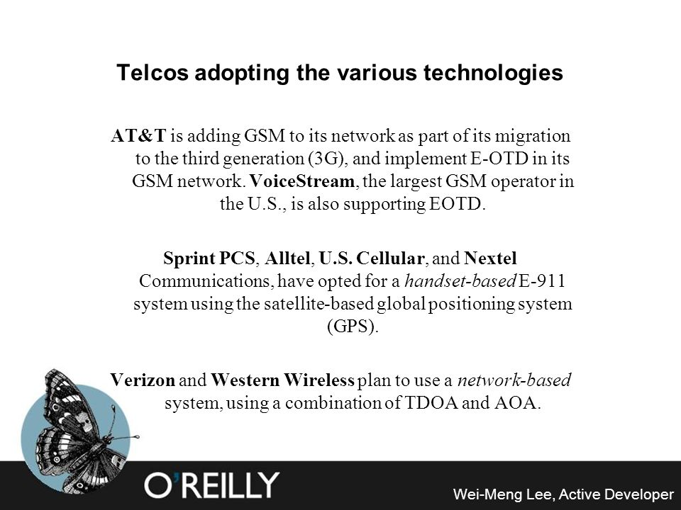 Telcos adopting the various technologies