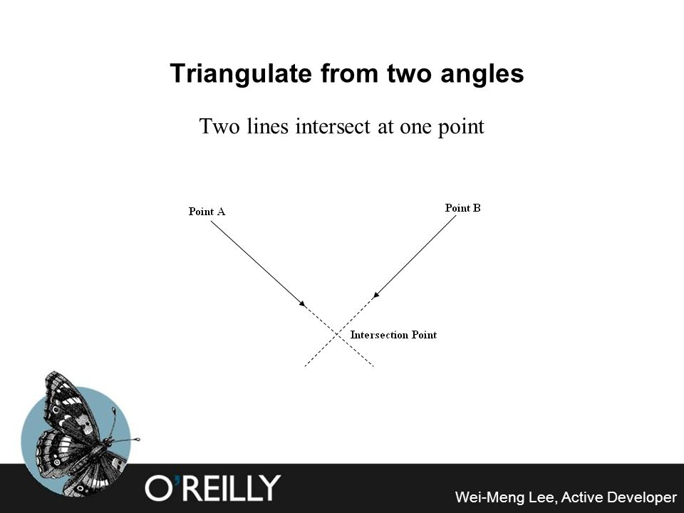 Triangulate from two angles