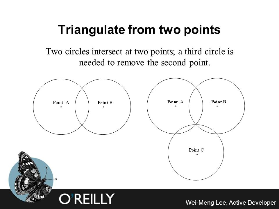 Triangulate from two points