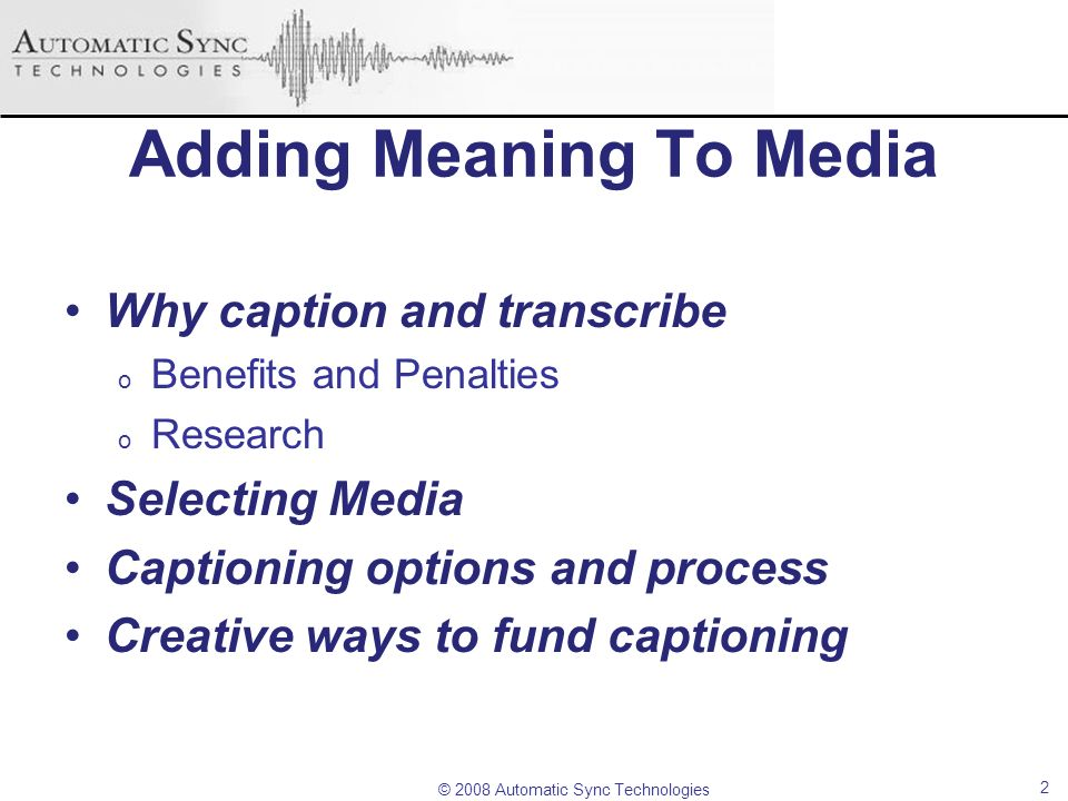 Adding Meaning To Media