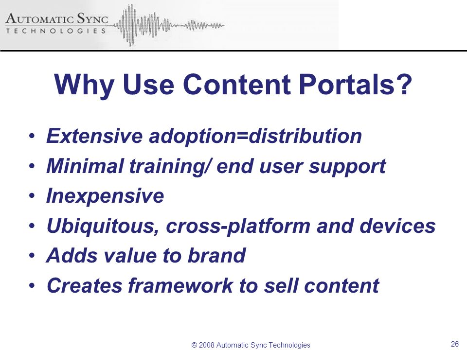 Why Use Content Portals
