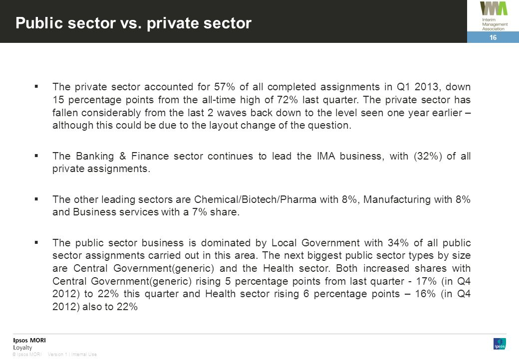 Public sector vs. private sector