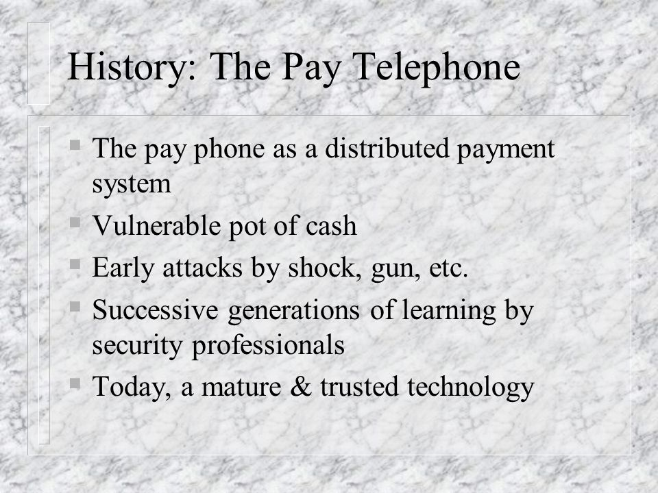 History: The Pay Telephone