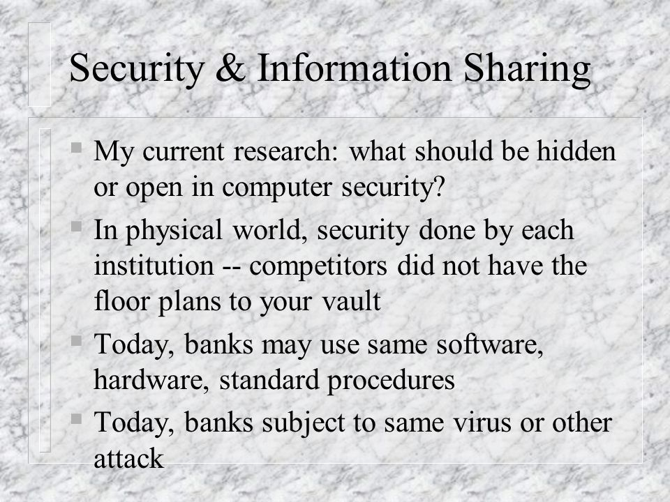 Security & Information Sharing