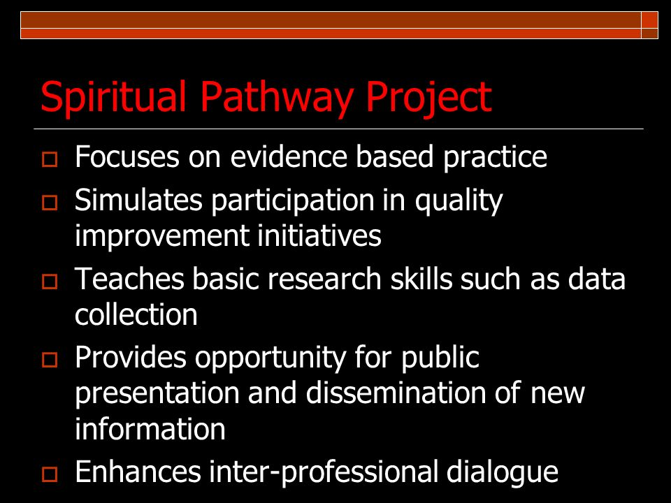 Spiritual Pathway Project