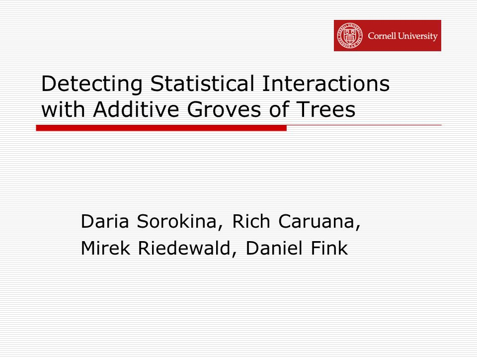 Detecting Statistical Interactions with Additive Groves of Trees
