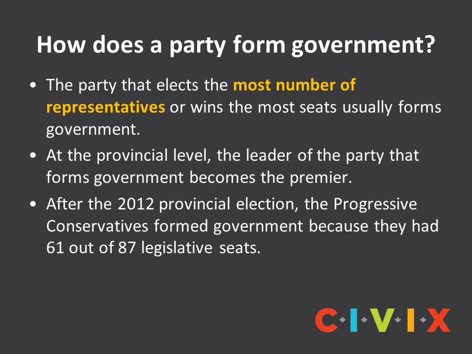 How does a party form government