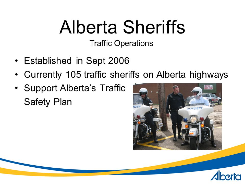 Alberta Sheriffs Established in Sept 2006