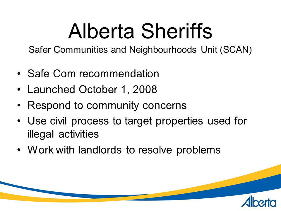 Safer Communities and Neighbourhoods Unit (SCAN)