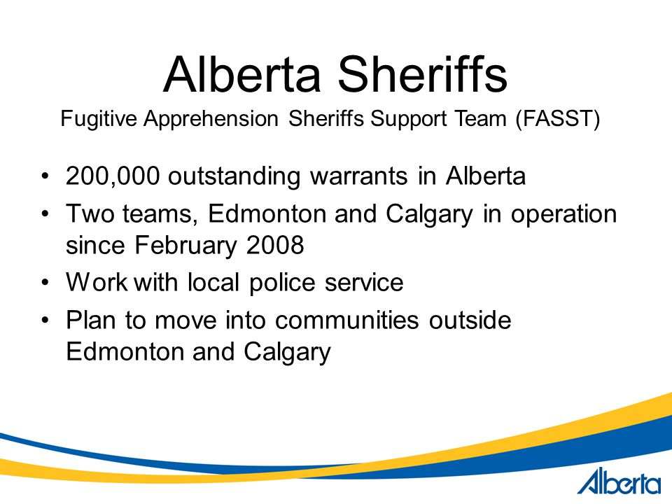 Fugitive Apprehension Sheriffs Support Team (FASST)