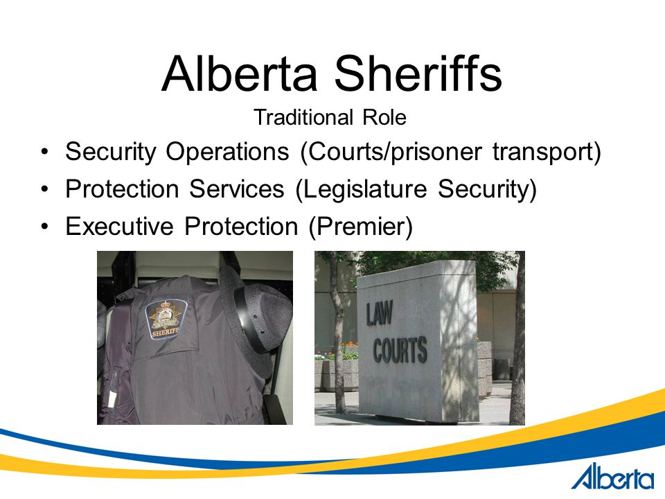 Alberta Sheriffs Security Operations (Courts/prisoner transport)