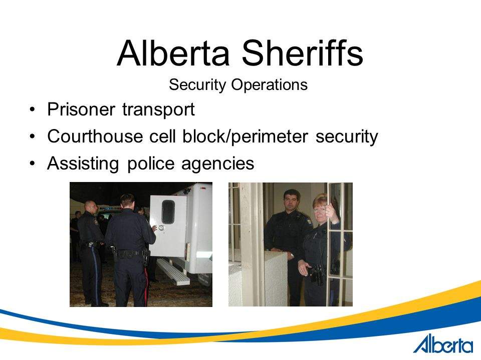Alberta Sheriffs Prisoner transport