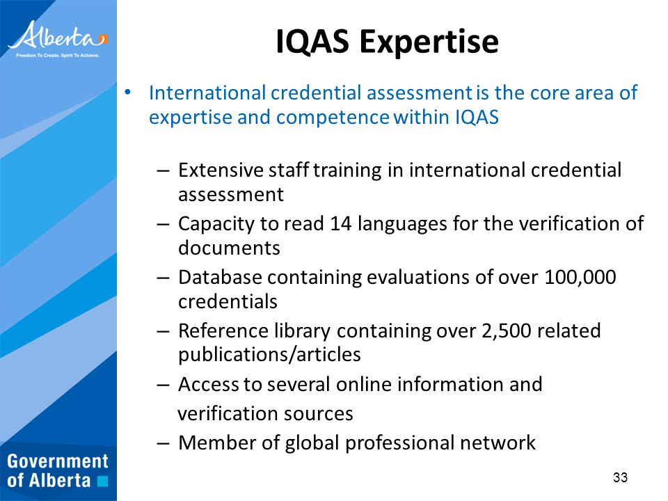 Foreign Qualifications Recognition Alberta, Canada - ppt