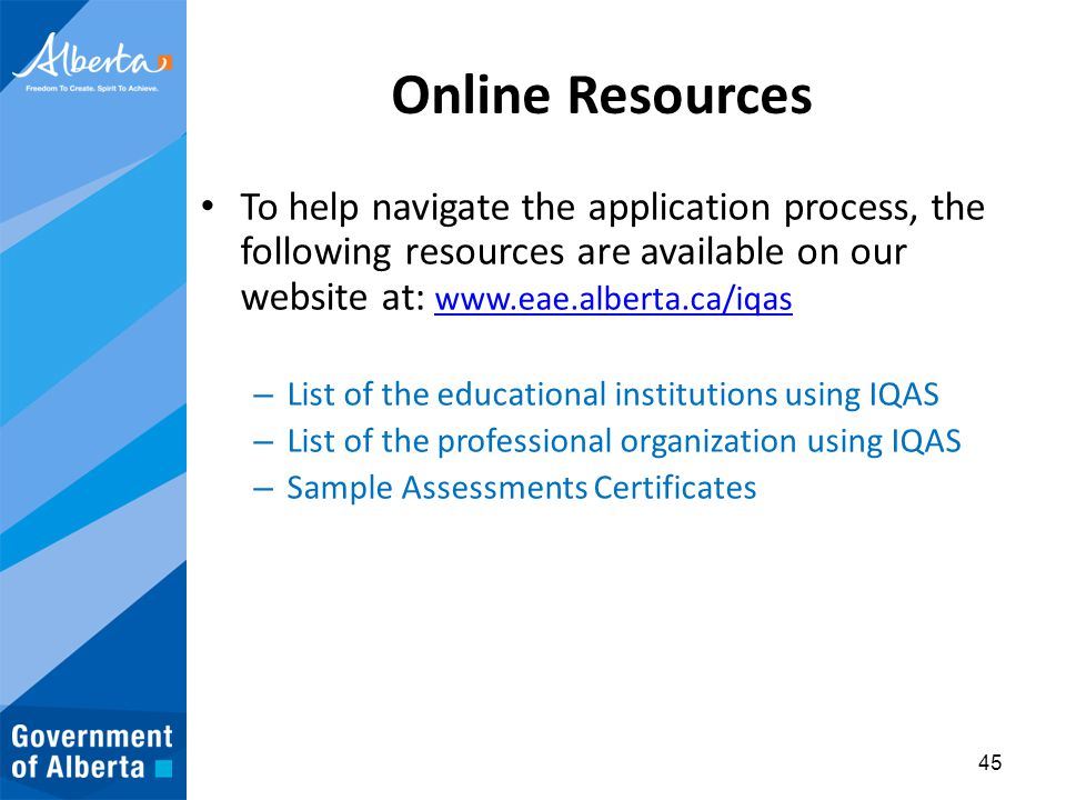 Foreign Qualifications Recognition Alberta, Canada - ppt download