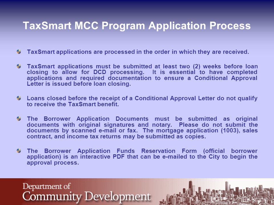 City Of Chicago Mortgage Credit Certificate Mcc Program