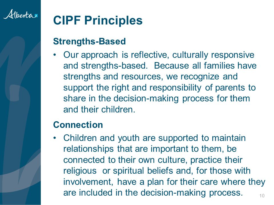 CIPF Principles Strengths-Based