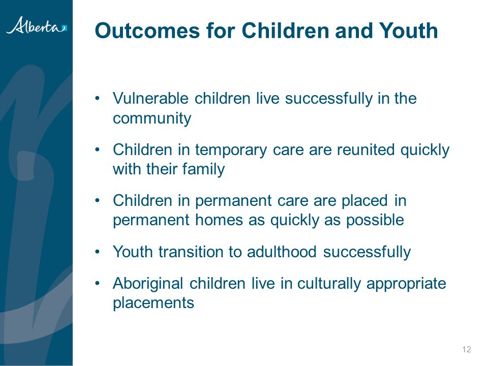 Outcomes for Children and Youth
