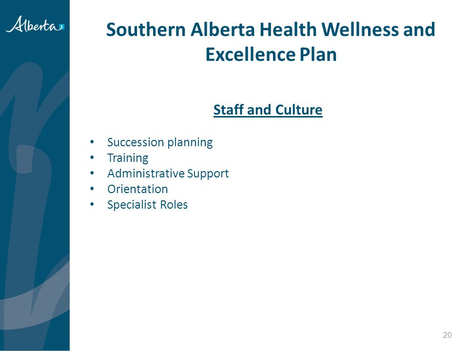 Southern Alberta Health Wellness and Excellence Plan