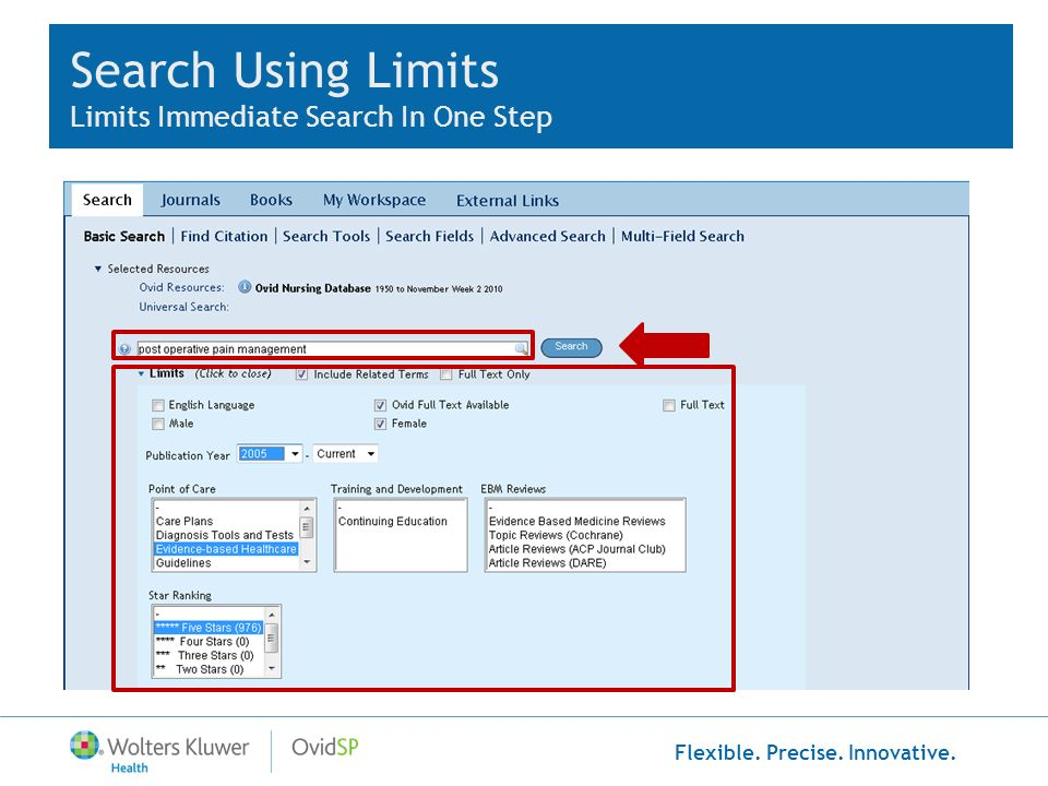 Search Using Limits Limits Immediate Search In One Step