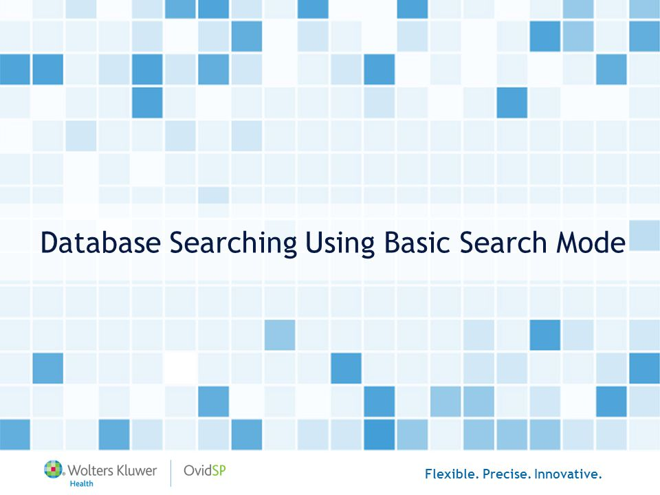 Database Searching Using Basic Search Mode