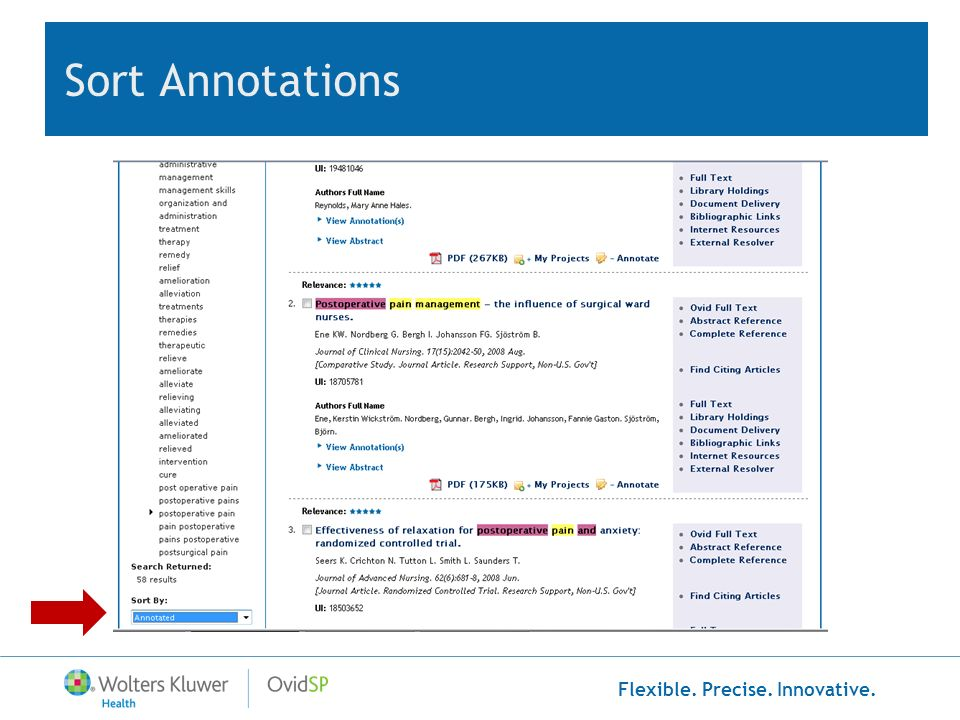 Sort Annotations You can Sort By: Annotation to bring all your annotated records to the top.