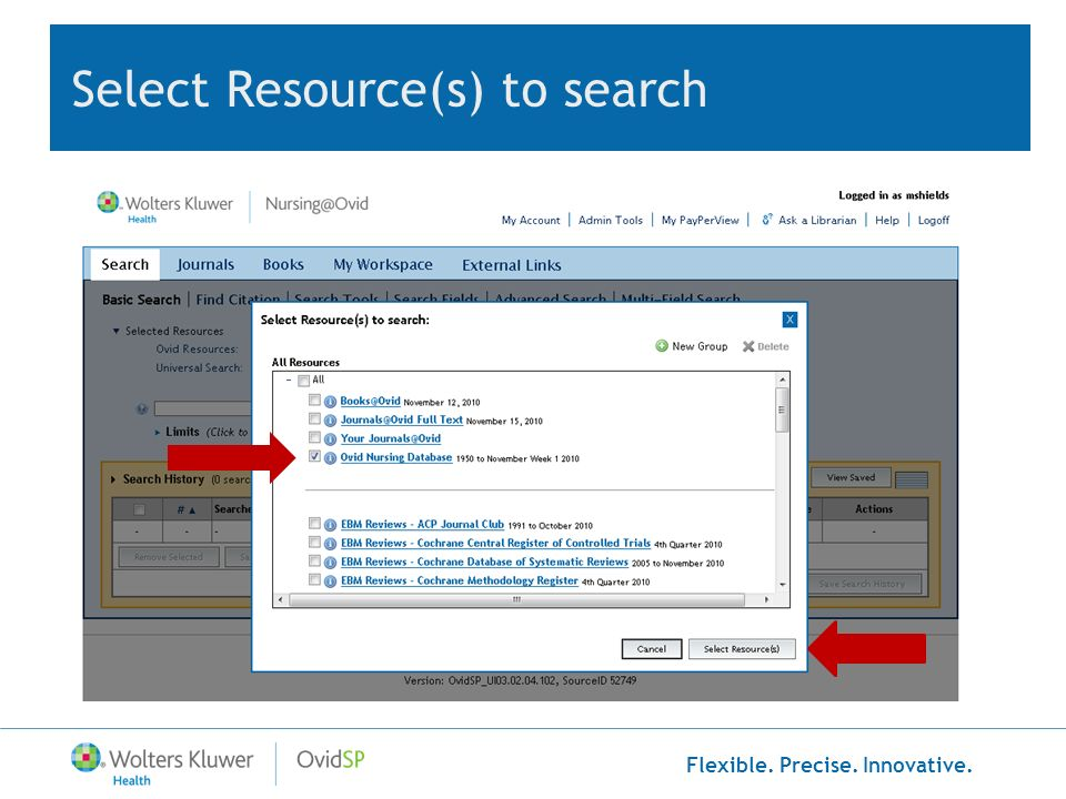 Select Resource(s) to search