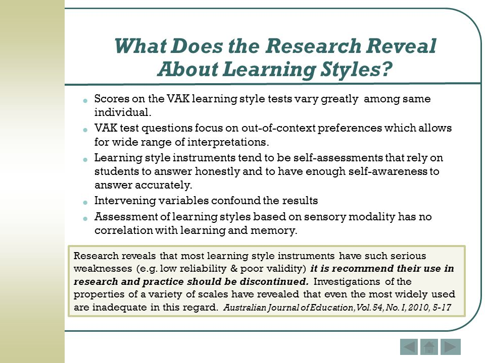 Enough With Learning Styles Already >> Learning Styles Myth Or Reality Ppt Download