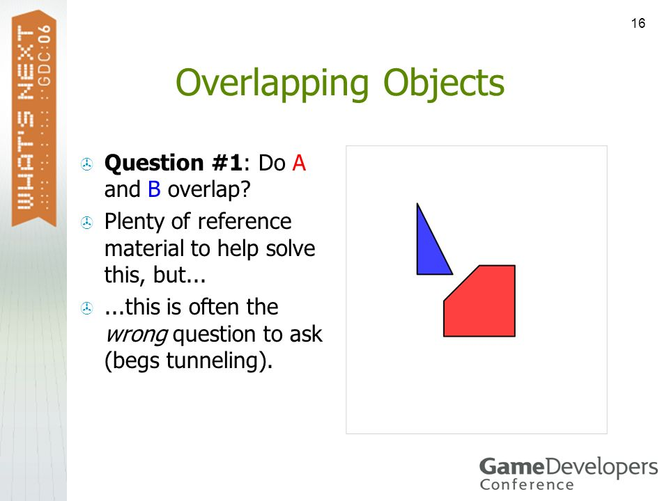 Overlapping Objects Question #1: Do A and B overlap