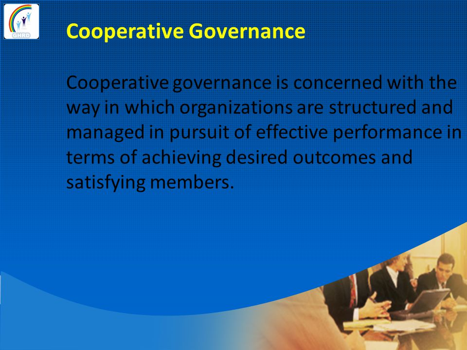 Cooperative Governance