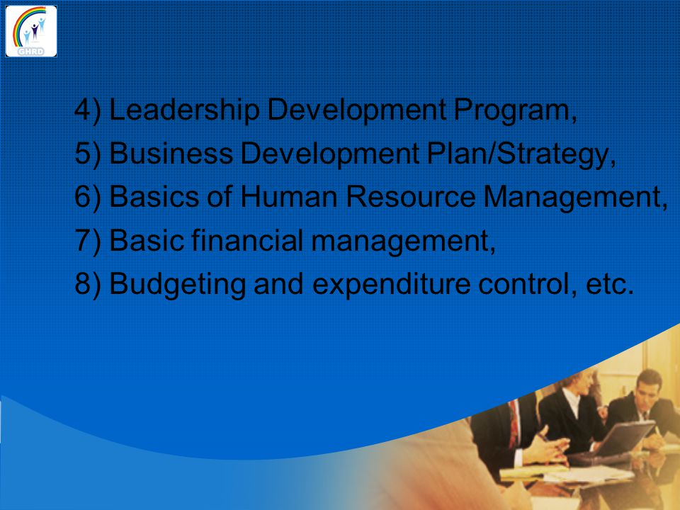 4) Leadership Development Program,