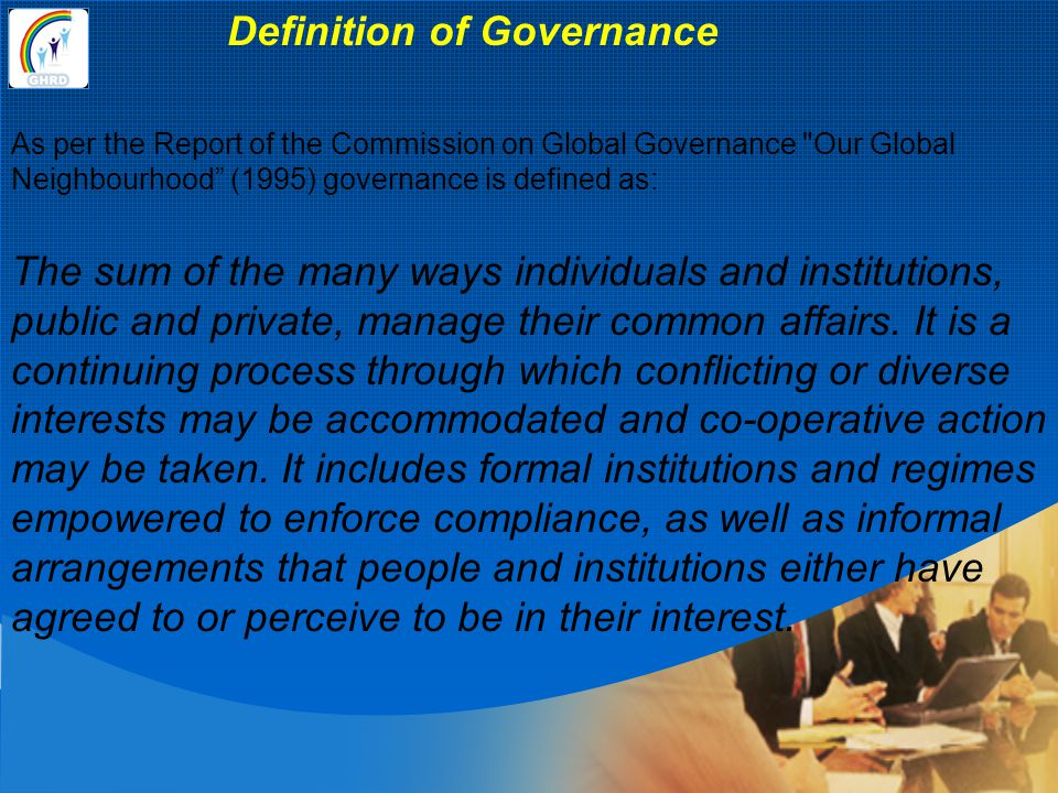 Definition of Governance