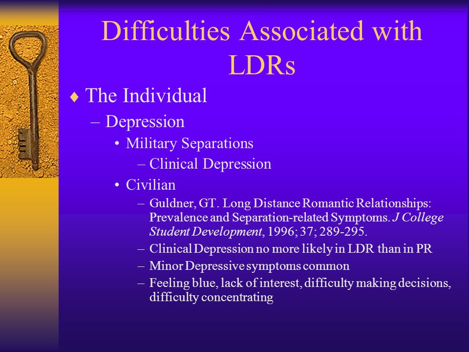 Difficulties Associated with LDRs