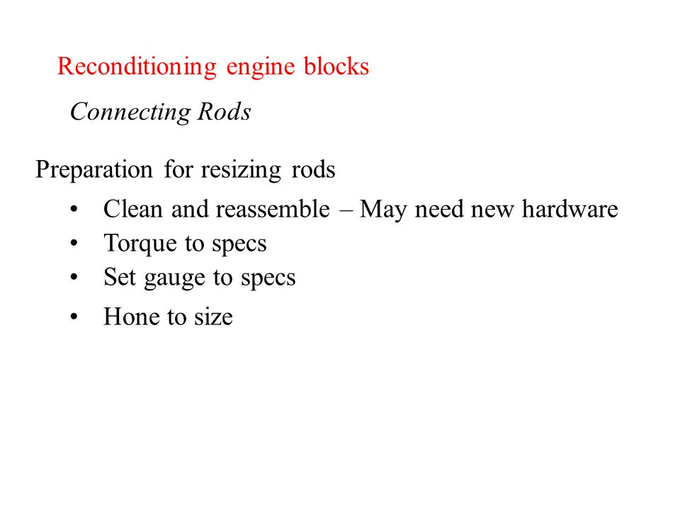 Chapter 13 - Reconditioning engine blocks - ppt download